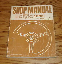 Original 1979 Honda Civic 1200 Shop Service Manual 79