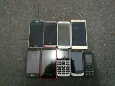 9x Faulty Phone Bundle/Joblot, Samsung, HTC, Sony, UK Seller, Free UK delivery