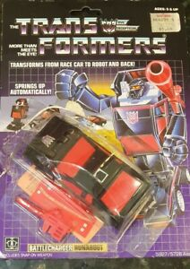 TRANSFORMERS G1 RUNABOUT- Runabout - 1984 80s with packaging