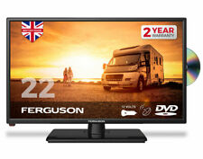 "FERGUSON 22"" INCH 12v TRAVELLER TV DVD FREEVIEW HD SATELLITE CARAVAN MOTORHOME"