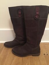 Timberland Womens Brown Leather Suede Boots Size 6.5W Uk Size 4 1/2
