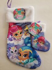 "SHIMMER AND SHINE NEW CHRISTMAS STOCKING 18"" and 8"" included"