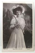 POSTCARD Miss Billie Burke, butterfly net; Real Photo; Postmark Street 1908