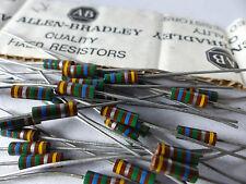 35 x Allen Bradley Kohlemasse Widerstand 5.6 MOhm, 1/2 W, Resistor f. Tube Amps