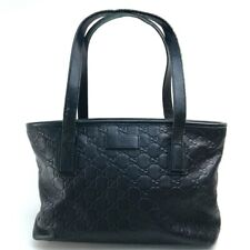 GUCCI 211138 Guccissima Hand Bag Tote Bag Leather Black
