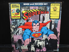Superman Book and Record Set - Power Records BR-514 Stereo