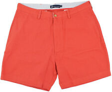 "NWT Men's Southern Marsh Regatta Flat Front Vintage Red 6"" Inseam Shorts Size 36"