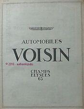 PUBLICITE AUTOMOBILES VOISIN AVIONS CHAMPS ELYSEES DE 1924 FRENCH AD CAR PUB