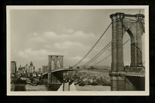 New York City NY real photo postcard RPPC Brooklyn Bridge Lloyd Bremen Vintage