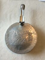 VINTAGE CONTINENTAL HAND WROUGHT SILVER LOOK 505 ALUMINUM SILENT BUTLER CRUMB
