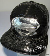 Superman Super man   Baseball Cap Hat  Base ball Adjustable NWOT snap back