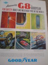 G8 Goodyear tyres advert 1964 ref AY