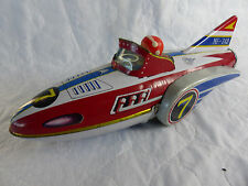 vintage Made in China MF-742 Space Rocket Boat aus Blech - Tinplate - 32cm