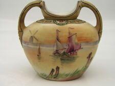 Nippon Vase, Hand Painted Sailing Sailboat Windmills Image