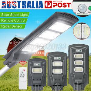1800W Solar LED  PIR Motion Sensor Wall Garden Lamp w/ Remote AU