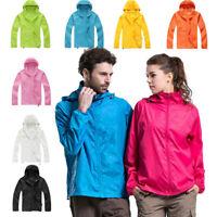 Men Women Ladies Waterproof Windproof Jacket Outdoor Bicycle Sports Rain Coat