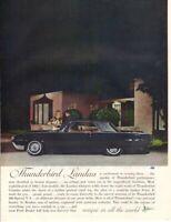 Vintage Print advertisement ad Car 1962 FORD Thunderbird Landau Evening Dress