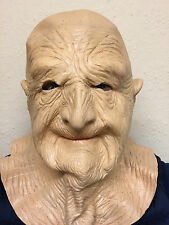Old Man Mask Bald Head Wrinkly Grandad Bad Dirty Grandpa Latex Fancy Stag Party