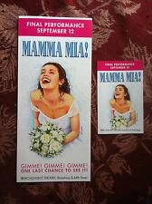 MAMA MIA ad/flyer Broadway NYC Abba  2015 closing ad bonus Christy Altomare