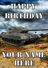 Call Duty Battlefield War Tank A5 Personnalisé Carte de vœux anniversaire ref784