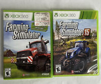 Farming Simulator 15 Bundle With Farming Simulator 1 Xbox 360 Complete w/ Manual