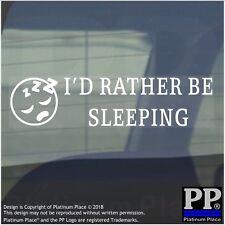 1 x I'd Rather be Sleeping-Internal Sticker-Duvet,Snooze,Bed,Sleep,Dream,Bedtime
