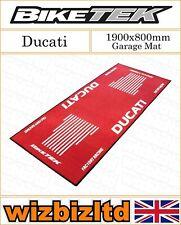 Red & White 1900x800mm Ducati Garage Mat GRGMAT41
