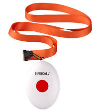 SINGCALL.Wireless Nursing System.One Single Button Pager,Bell with the Necklace