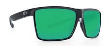 COSTA DEL MAR RINCON POLARIZED RIN11 OGMP SUNGLASSES BLACK FRAME/GREEN 580P LENS