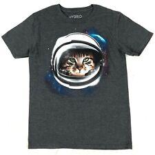 Tabby Cat Astronaut Hybrid Apparel t-shirt Men's Medium Gray