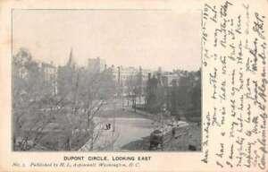 Washington DC Dupont Circle Looking East Vintage Postcard AA43427