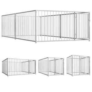 vidaXL Chenil d'Extérieur pour Chiens Animaux Enclos Cage Niche Multi-taille