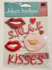 NIP SWEET KISSES LIPS JOLEE'S BOUTIQUE DIMENSIONAL STICKERS VALENTINE'S LOVE