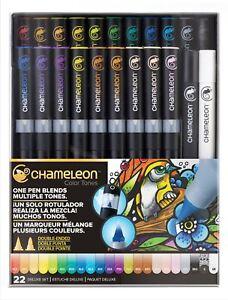 Chameleon Color Tones Pen Set Alcohol Blending Gradient - 22 Pen Deluxe Set