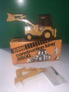 CASE 580G Backhoe Loader, Sliding hoe, Conrad, W. Germany, 1/35 Scale, Black Cab