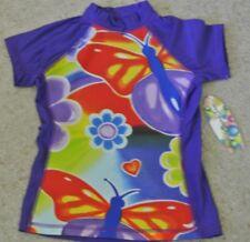 New Girls Blue Kiss Rash Vest purple/Multi 10-12  years