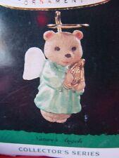 1995 HALLMARK Miniature CHRISTMAS Ornament NATURE'S ANGELS #6 bear girl w lute