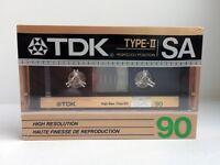 TDK SA 90 BLANK AUDIO CASSETTE TAPE NEW RARE 1987 YEAR USA MADE