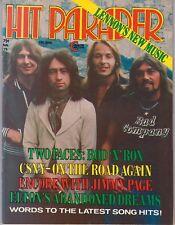 Hit Parader Magazine February 1975 Bad Company Faces CSNY Jimmy Page Led Zeppeli