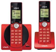VTech DECT 6.0 Dual Handset Cordless Phone CID Backlit Keypad handset Red