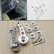 Universal Car Auto Window Winder Kit Crank Door Glass Handle Aluminium Silver 2x
