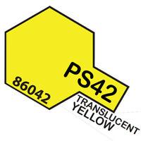 Peinture Spray Pour Polycarbonate 100 Ml. Translucide Jaune Ps42 Tamiya