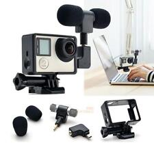 Side Opening Skeleton Housing Case Microphone Adapter Kit for GoPro Hero 3 3+4