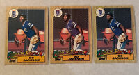 1987 Topps Bo Jackson Rookie Card Lot Of 3 #170 Kansas City Royals Mint!