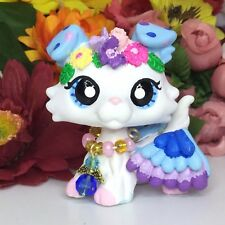 Littlest Pet Shop Cute Collie Dog, With Flowers Ooak Custom, Hand Painted, LPS