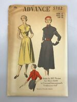 Vintage Sewing Pattern Designer Bill Thomas Universal Movie Dress Advance 5702