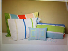New-Full/Double~Pastel Stripe 10-piece Bed in a Bag with Sheet Set-ship free