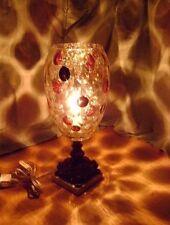 "Vintage Borske Sklo Rare Gold Cranberry Nemo Glass TABLE LAMP 14 1/2"""