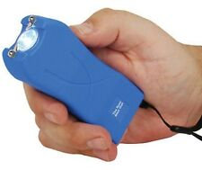 Stun Gun 20 Million Volt Rechargeable LED POLICE BLUE Stun Gun free tazer case