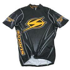 VINTAGE Sugio 3/4 Zip Jersey Size L Large Black Short Sleeve Bicycle Shirt Bike